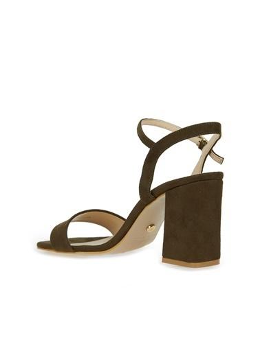 Divarese Divarese 5025399 Bantlı Topuklu Kadın Sandalet Haki
